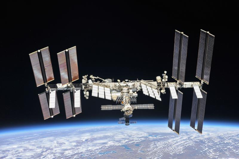 International Space Station orbiting Earth.
